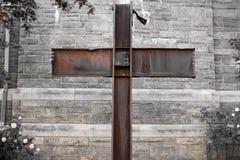 9/11 cruz del milagro Fotos de archivo