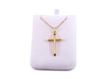 Cruz del oro Fotografía de archivo