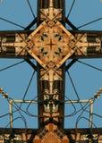 Cruz del poste de potencia Foto de archivo libre de regalías