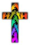 Cruz do arco-íris da diversidade ilustração stock