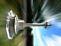 Cruz do cemitério Imagem de Stock