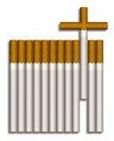 Cruz do cigarro Ilustração do Vetor