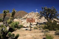 Cruz do deserto Fotografia de Stock Royalty Free