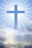 Cruz do deus do céu Fotografia de Stock Royalty Free