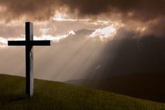 Cruz do Jesus Cristo fotografia de stock
