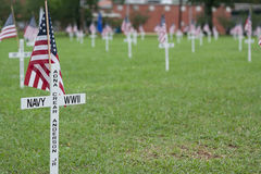 Cruz do memorial dos veteranos Fotos de Stock Royalty Free