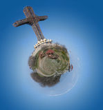 Cruz do milênio Fotografia de Stock Royalty Free