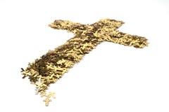 Cruz do ouro Fotografia de Stock Royalty Free