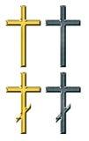 Cruz do ouro e da prata Ilustração do Vetor