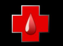 Cruz do sangue Imagens de Stock Royalty Free