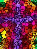 Cruz do vidro manchado ilustração royalty free