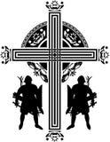 Cruz dos cruzados da fantasia Fotografia de Stock