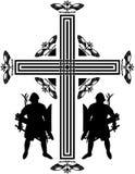 Cruz dos cruzados da fantasia Imagem de Stock