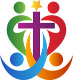Cruz dos povos Imagem de Stock