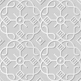 cruz Dot Line Frame Flower redondo da verificação da curva da arte do Livro 3D Branco Foto de Stock Royalty Free