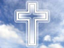 Cruz e céu Fotografia de Stock