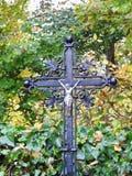 Cruz e Jesus Christ, Lituânia fotos de stock