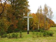 Cruz e Jesus Christ, Lituânia imagem de stock