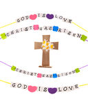 Cruz e mensagens cristãs Foto de Stock Royalty Free