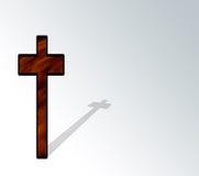 Cruz e sombra Fotografia de Stock