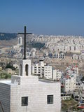 Cruz em Bethlehem Imagem de Stock
