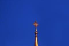 Cruz em uma igreja Imagens de Stock Royalty Free
