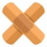 A cruz emplastra o ícone liso isolado no branco ilustração royalty free