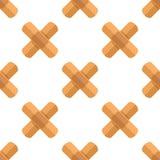 A cruz emplastra o teste padrão sem emenda do ícone liso ilustração do vetor