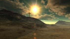 Cruz en el Calvary (crucifixión) metrajes