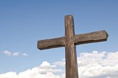 Cruz en el cielo Imagen de archivo libre de regalías