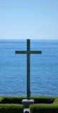 Cruz en el lago foto de archivo libre de regalías