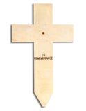 Cruz en la conmemoración Imagenes de archivo