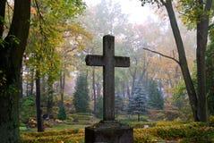 Cruz en niebla Imagen de archivo libre de regalías