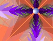 Cruz en Violet Flower ilustración del vector