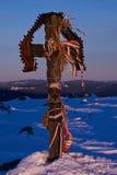 Cruz encima del Madarasi Hargita Imagen de archivo