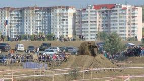 Cruz experimental 4x4 do jipe de Moldova Ohei Foto de Stock Royalty Free