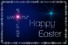 Cruz feliz de Easter Fotografia de Stock Royalty Free
