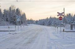 Cruz ferroviaria Imagenes de archivo