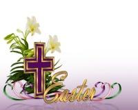 Cruz floral de la frontera de Pascua libre illustration