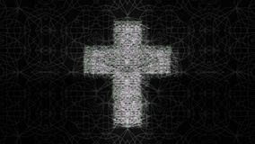 Cruz futurista no fundo preto vídeos de arquivo