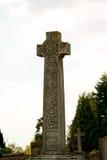 Cruz grande de la lápida mortuaria Imagen de archivo libre de regalías