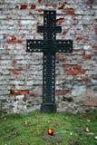 Cruz grave, Polonia Foto de archivo libre de regalías