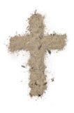 Cruz hecha de cenizas Fotografía de archivo libre de regalías