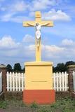 Cruz histórica del borde del camino en Westfalia, Alemania Fotos de archivo