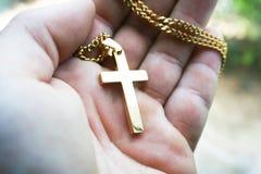 Cruz Jesus Christ de representa??o disponivel do ouro imagens de stock royalty free