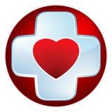 Cruz médica do coração. EPS 8 Foto de Stock Royalty Free