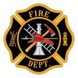 Cruz maltesa do departamento dos bombeiros ilustração stock