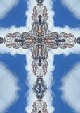 Cruz marrón de los picos de Belces Fotografía de archivo libre de regalías