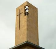Cruz moderna de la iglesia Imagen de archivo libre de regalías