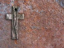 Cruz na parede Fotografia de Stock Royalty Free